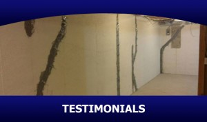 Basement Crack Repair Testimonials - Michigan